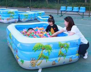 [TẶNG BƠM, KEO, MIẾNG DÁN] Bể bơi Phao Gia đình,Bể bơi Phao Cỡ lớn Cho Gia Đình,Mua Ngay Bể Bơi Trong Nhà ( Dài 1m5 ) Cao Cấp Giá Rẻ (Off-50%) Thiết Kế 3 Tầng Chất Bể Dầy Cực Bền.Cho Bé Tha Hồ Chơi Đùa Thỏa Mái.Bh 1 Đổi thumbnail