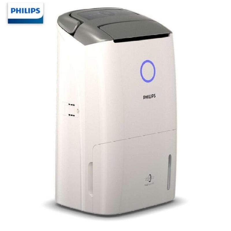 Máy hút ẩm kiêm lọc không khí cao cấp nhãn hiệu Philips DE5206/00 tích hợp cảm biến chất lượng không khí 4 màu, công suất 355W
