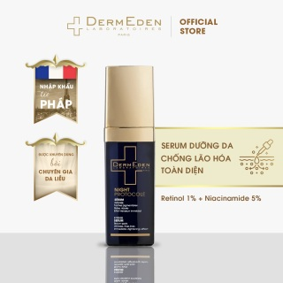 Serum giảm nám tàn nhang chống lão hóa da cao cấp DermEden Intense Anti-ageing Retinol 1% + Niacinamide 5% 30ml thumbnail