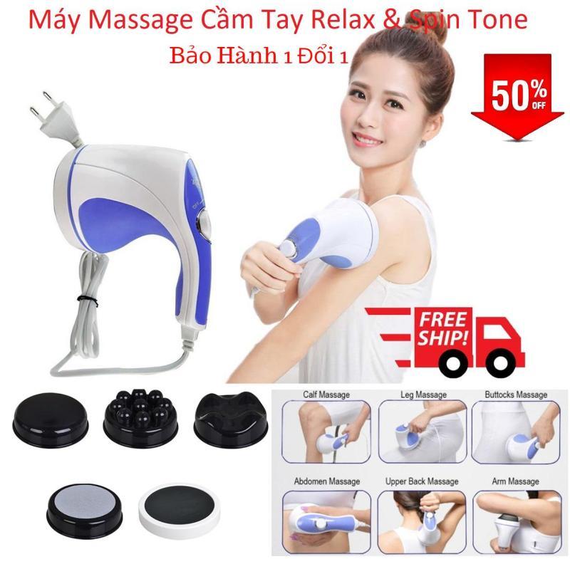 Máy Massage Relax & Spin Tone Đánh Tan Mỡ Bụng, Giảm Mỡ Toàn Thân, 5 Đầu Massage Cơ Chế Khác Nhau, Hiệu Quả Vượt Trội. Giảm -50%. Bảo Hành Uy Tín 1Đổi 1.