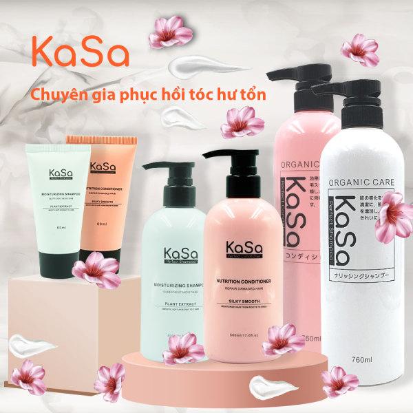 Dầu gội xả phục hồi tóc hư tổn Kasa Keratin