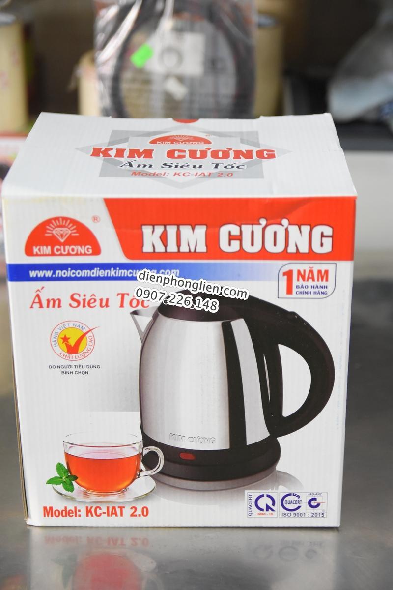 Ấm siêu tốc Kim Cương Inox 2.0L hàng Việt Nam chất lượng cao