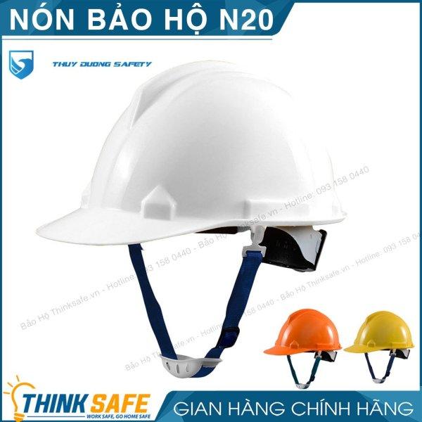 Nón bảo hộ lao động Thùy Dương N20 - Mũ bảo hộ chống va đập trọng lượng nhẹ - Bảo hộ Thinksafe