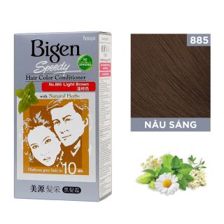 Thuốc nhuộm dưỡng tóc phủ bạc thảo dược Bigen Conditioner Thương hiệu Nhật Bản 80ml dạng kem - Nâu Sáng 885 thumbnail