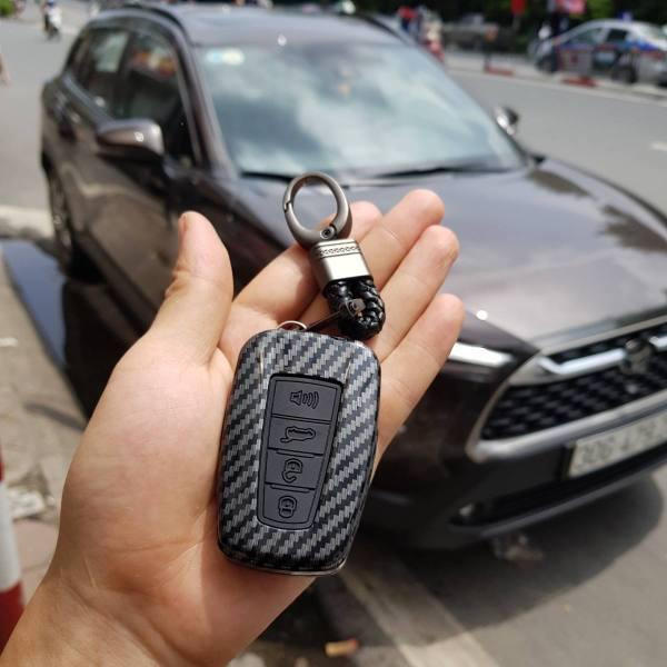 Toyota Corolla Cross Bao chìa khóa ốp chìa khóa vân Carbon cao cấp sang trọng tính năng tuyệt vời