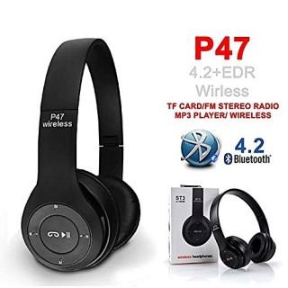 Tai Nghe Không Dây Kết Nối Bluetooth P47 Có Khe Cắm Thẻ Nhớ thumbnail