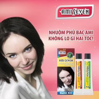 Nhuộm phủ bạc dược thảo Ami Seven Speedy Permanent Hair Color (60g 60g) nhanh 7 phút - loại tiết kiệm - Hàn Quốc- màu S4 - Nâu hạt dẻ thumbnail
