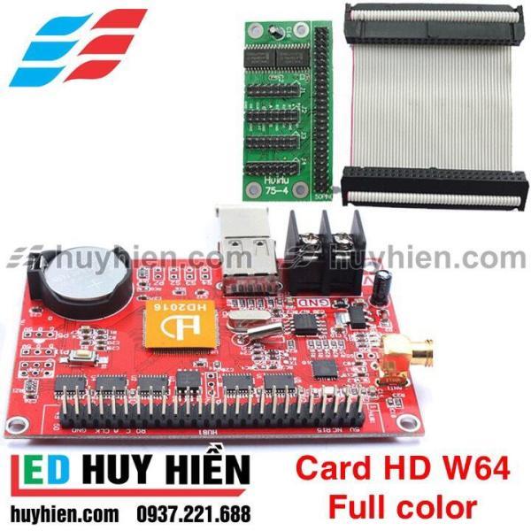 Card HD W64 + HUB75 (USB&WIFI) hỗ trợ 4 tầng module led full color