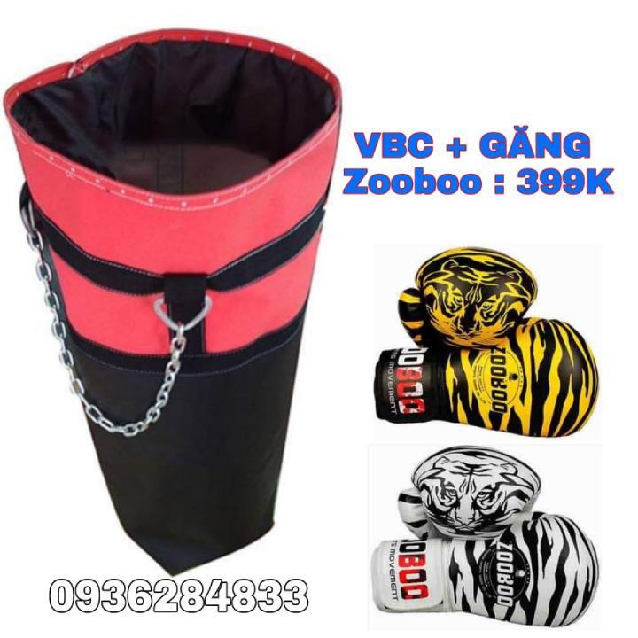 Combo Vỏ Bao Cát + Găng Boxing Zooboo, Vỏ Bao Cát D 80 Cm - R 30 Cm Da Kamat 2 Lớp Siêu Bền Có Giá Cực Tốt