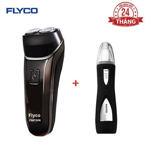 Bộ đôi FLYCO Máy cạo râu 2 lưỡi kép chống nước toàn thân FS873VN và Máy tỉa lông mũi FS7805VN