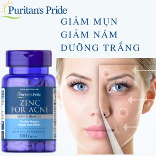 Viên uống kẽm giảm mụn (HSD 5 2023) Puritan s Pride Premium Zinc For Acne 2580 100 viên kẽm giảm mụn thumbnail