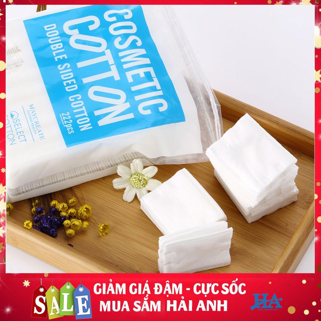 [Túi 222 miếng] Bông tẩy trang thấm hút nhanh chóng, tẩy sạch bụi bẩn an toàn cho da MayCreate GDTT010 tốt nhất
