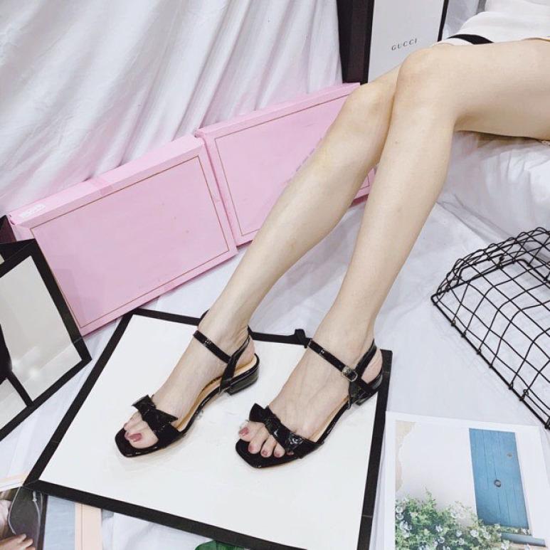 (Miễn ship) Giày nữ, Giày cao gót nữ, Giày sandal nữ thắt nơ lên chân sang trọng PinkShopGiayDep giá rẻ