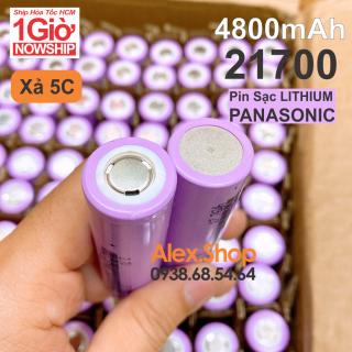 [1 2 4 Viên] Pin Lithium Panasonic. 3.7V 21700 Dung Lượng 4800mAh Điện Xã 5C Loại Tốt thumbnail