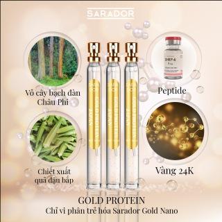 Gold protein chỉ vi phân trẻ hóa Sarador Gold nano thumbnail