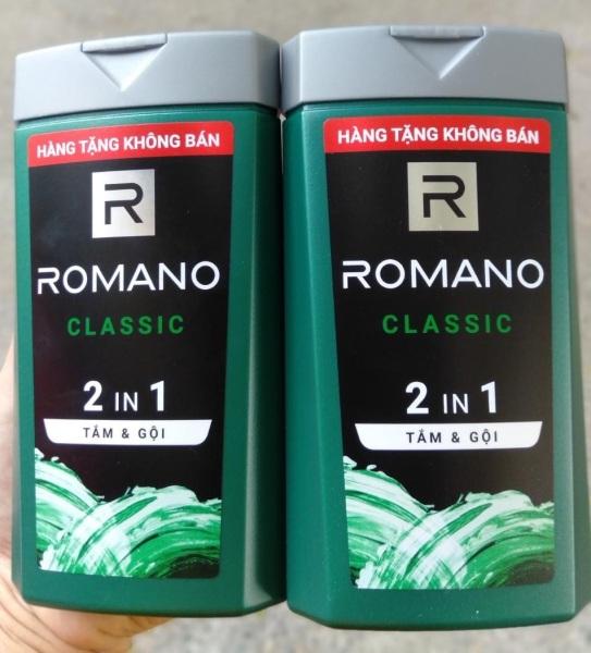 2 Chai Tắm Gội 2 In 1 Romano 150g Hàng Khuyến mãi