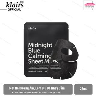 Mặt nạ dưỡng ẩm, làm dịu cho da nhạy cảm, kích ứng Klairs Midnight Blue Calming Sheet Mask 25ml thumbnail