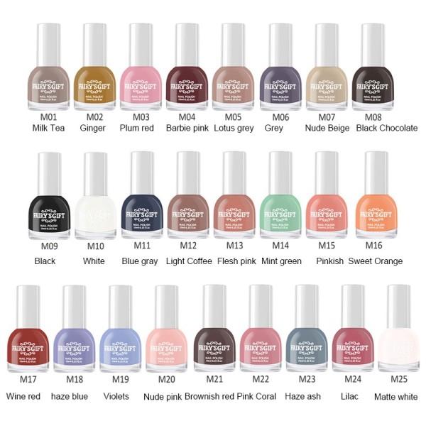 Chai sơn móng tay SANIYE nhám 10ml lâu trôi (có 25 màu để lựa chọn) N8182 - INTL nhập khẩu