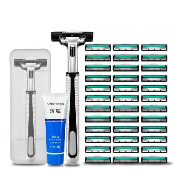 [ MỚI VỀ ] Dao cạo râu có 36  đầu lưỡi dao di động, điều chỉnh theo đường cong khuôn mặt, giúp việc cạo râu an toàn hơn, TẶNG KÈM HỘP ĐỰNG VÀ KEM CẠO RÂU tốt nhất