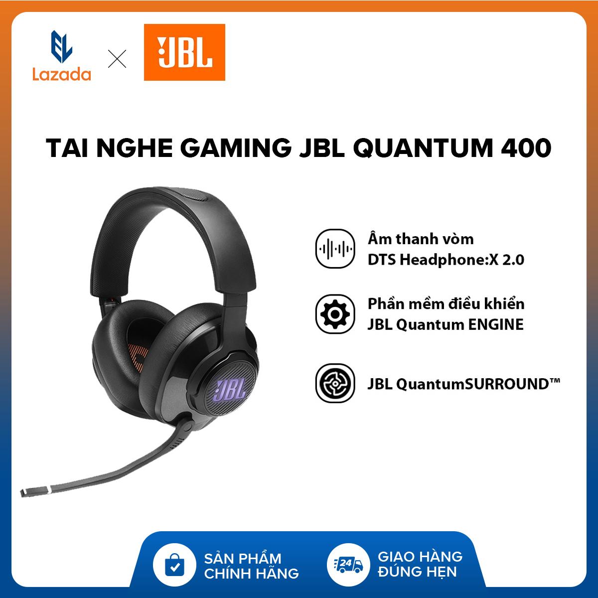 Giá Sốc Duy Nhất Hôm Nay Khi Mua [VOUCHER 10% - HÀNG CHÍNH HÃNG] Tai Nghe Gaming JBL Quantum 400 L Âm Thanh Vòm DTS Headphone:X 2.0 L Công Nghệ QuantumSOUND Signature L Phần Mềm điều Khiển JBL QuantumENGINE