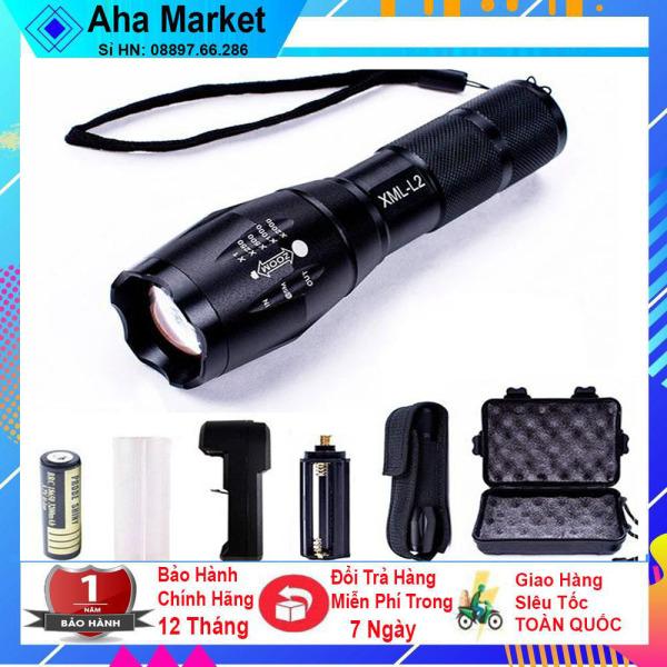Đèn Pin Mini Siêu Sáng cầm tay Xml-T6, Bộ Sản Phẩm Đèn Pin Mini Siêu Sáng Xml-T6 Cao Cấp, Tiện Lợi 5 In 1 Chiếu Sáng Trong Nhiều Giờ,khoảng cách hơn 500m chống nước tốt- AHA Market