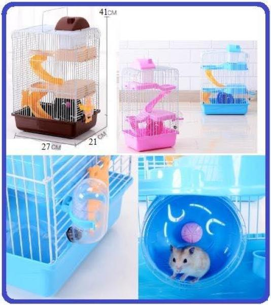 Lồng hamster Hoàng Tử 3 Tầng vui chơi thỏa thích .