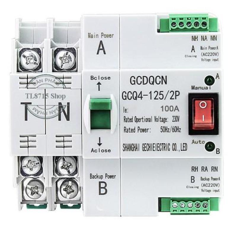 Cầu dao đảo chiều tự động không gây mất điện ATS 2P 100A, bộ chuyển nguồn ATS