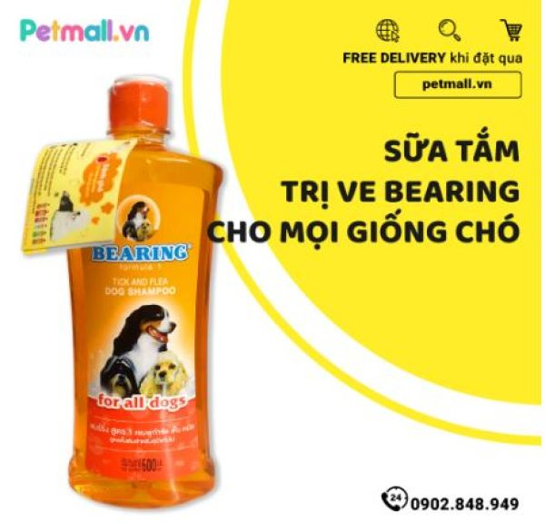 Sữa tắm trị ve BEARING Chó Các Giống 600ml - nhập Thái