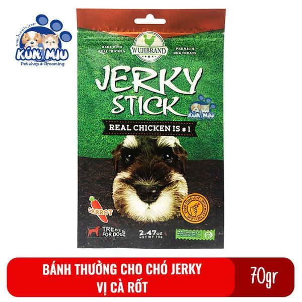 Bánh Thưởng Cho Chó Jerky 70Gr Vị Cà Rốt