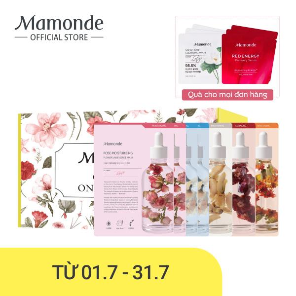 Bộ 7 mặt nạ giấy dưỡng ẩm Mamonde Sheet Mask Flower Power 5 Day Sampler (25MLx7) cao cấp