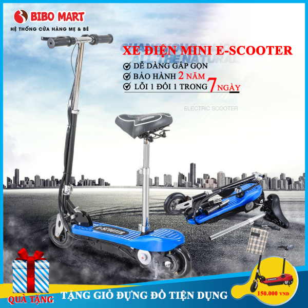 Mua Xe điện mini E Scooter trọng tải lớn động cơ khoẻ phiên bản cao cấp có thể gấp gọn tặng kèm giỏ đựng đồ tiện lợi Bảo hành 2 năm lỗi 1 đổi 1 trong 7 ngày