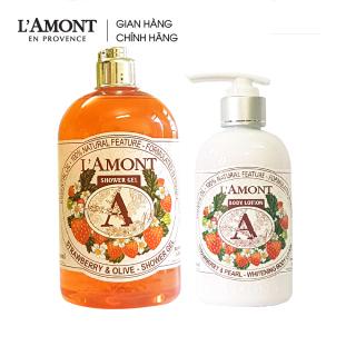 Combo Sữa tắm Strawberry hương dâu tây 500ml và Sữa dưỡng thể Strawberry 250ml - L amont En Provence thumbnail