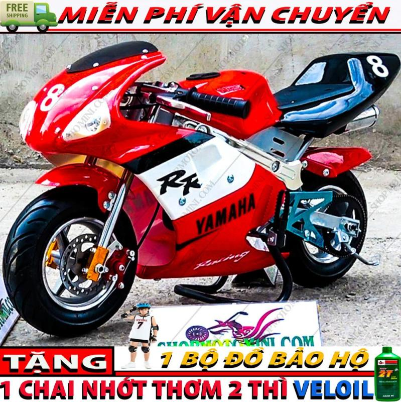 Mua Moto mini 50cc trẻ em ( có đèn và 2 ống bô ) | xe cào cào mini gắn máy cắt cỏ chạy bằng xăng pha nhớt