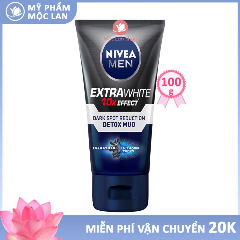 Sữa rửa mặt cho nam Nivea Men Detox Mud bùn khoáng giúp sáng da, mờ thâm mụn (100g) 81775 – Mỹ phẩm Mộc Lan