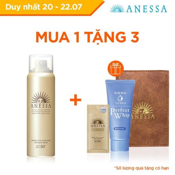 Kem chống nắng dưỡng da dạng xịt bảo vệ hoàn hảo Anessa Perfect UV Sunscreen Skincare Spray 60g cao cấp