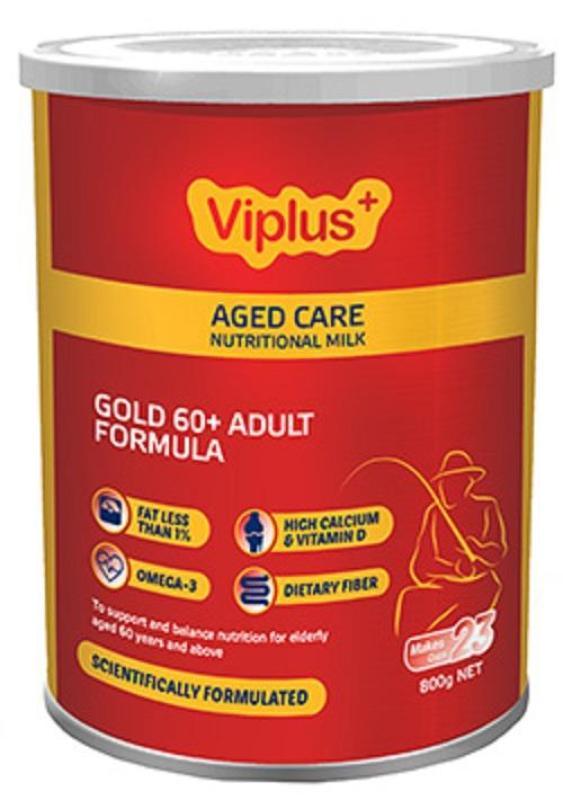 VIPLUS Gold 60+ Adult Nutritional Formula: Sữa công thức hỗ trợ dinh dưỡng cho người già từ 60 tuổi trở lên. cao cấp