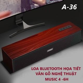 Loa Bluetooth Phiên bản A36 Họa tiết Nghệ thuật vân Gỗ. Bluetooth 5.0 Loa Bass cực mạnh. Loa thanh Vi tính để bàn 2 phương thức kết nối Qua dây cổng hoặc qua kết nối bluetooth. loa Thanh vi tính mini có kết nối Bluetooth thumbnail