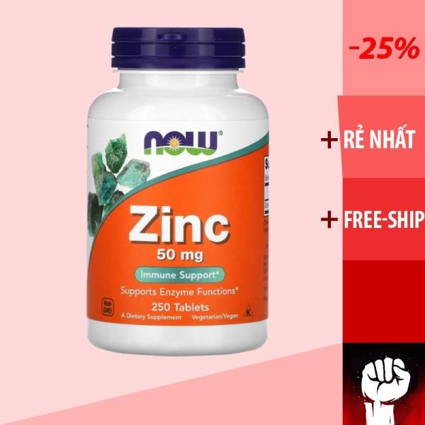 Vitamin Zinc   NOW ZINC   Vitamin Kẽm và Khoáng Chất Cho Cơ Thể [100 - 250 viên] 50MG - Chính Hãng