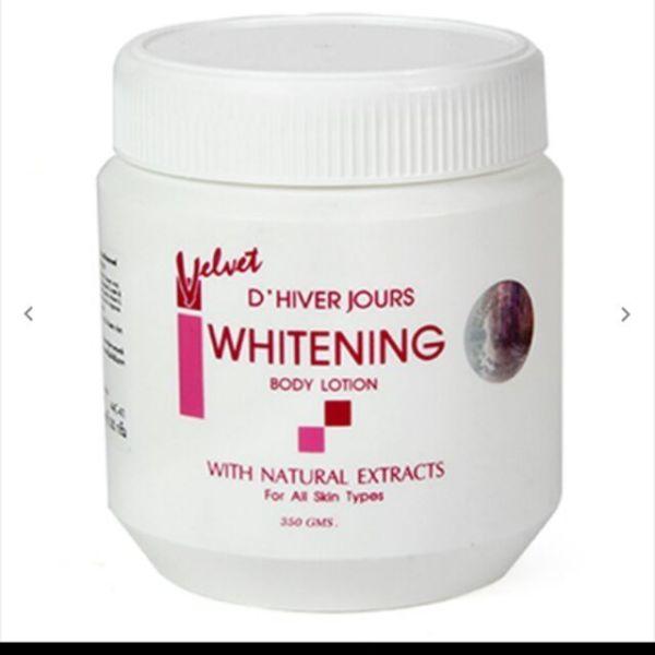 Kem dưỡng thể lotion trắng da velvet whitening thái lan 350g