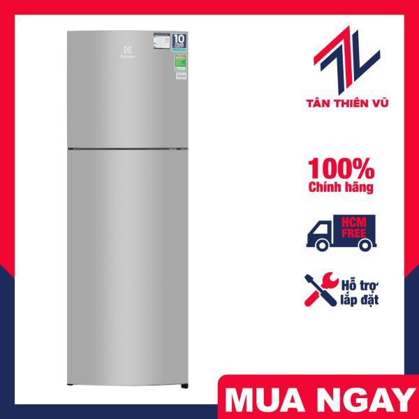 Tủ lạnh Electrolux ETB2802H-A 260 lít Inverter, sở hữu vẻ ngoài sang trọng và hiện đại với cửa tủ làm bằng thép bạc đẹp mắt