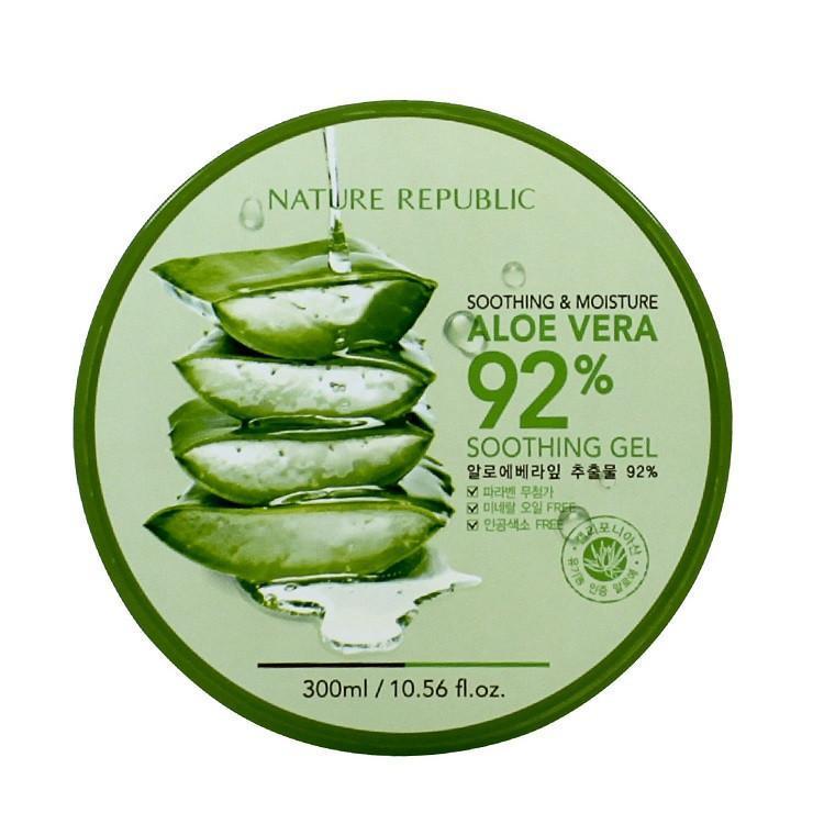 Kem dưỡng ẩm Nature Republic aloe vera 92% soothing gel
