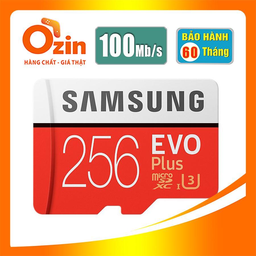 Offer Ưu Đãi Thẻ Nhớ Micro Sd Samsung Evo Plus 256Gb 100Mb/S Video 4K