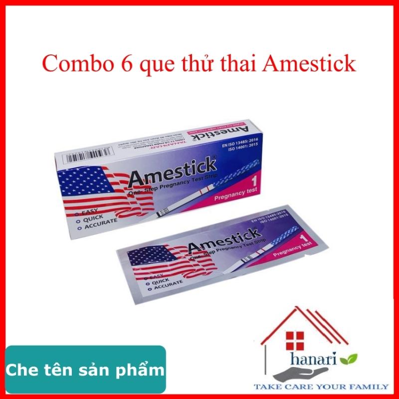 Que thử thai amestick 6 que chính hãng tanaphar, hỗ trợ sinh con theo ý muốn hoặc dùng tránh thai