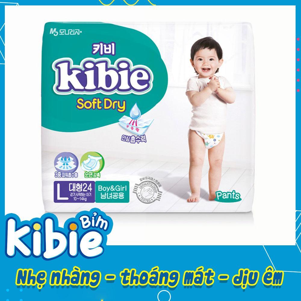 Bỉm quần Kibie cao cấp số 1 Hàn Quốc, bỉm quần kibie size L24 (9-14kg) - HABQL24