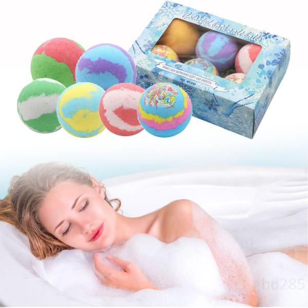 Bath Bombs Set, 6 mùi thơm Bath Salt Balls Chăm sóc da Giữ ẩm cho gia đình Spa Quà tặng cho mẹ vợ NaAsIYtm giá rẻ