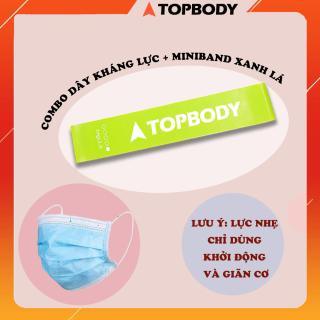 Combo Dây kháng lực Miniband kèm khẩu trang kháng khuẩn TOPBODY thumbnail