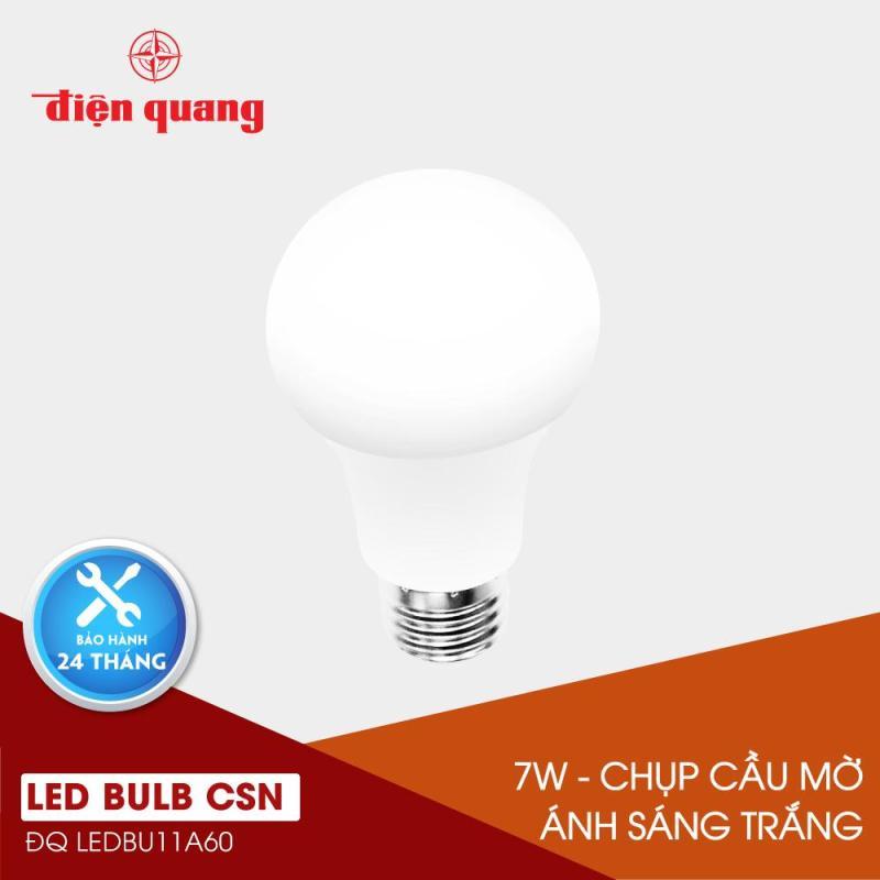 Đèn LED Bulb Điện Quang ĐQ LEDBU11A60 07765 V02 (7W daylight, chụp cầu mờ)