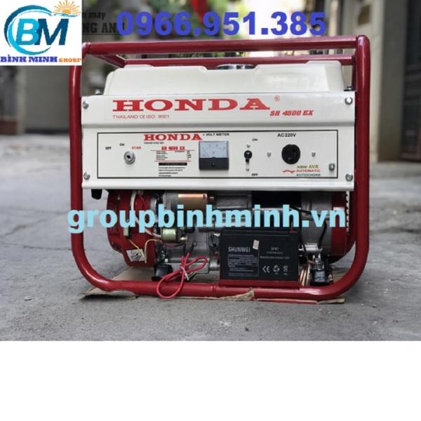 Máy Phát Điện Honda Chạy Xăng 3kw SH4500EX Đề