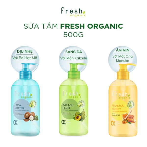 Gel Tắm Fresh Organic Kakadu Plum 500g - Sáng Da