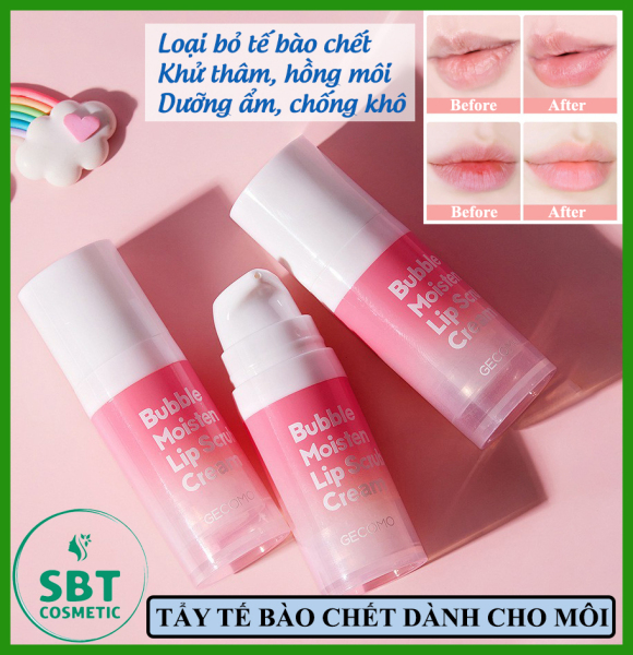 Kem Tẩy Tế Bào Chết Dưỡng Ẩm Sủi Bọt GECOMO Bubble Moisten Lip Scrub Cream 12g – Sạch Tế Bào Chết Vùng Môi, Dưỡng Ẩm Hiệu Quả